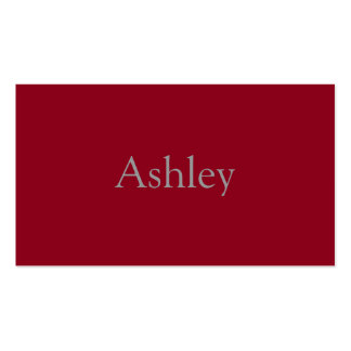 Monochromatic in Cranberry Pack Of Standard Business Cards