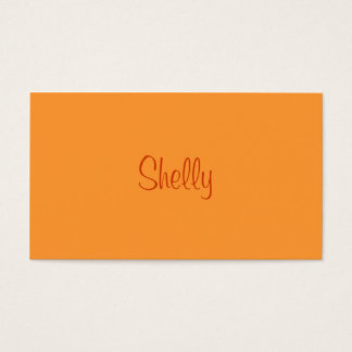 Monochromatic in Mango Business Card