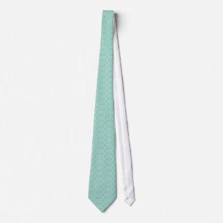 Monochromatic Mint Green Retro Floral Pattern Tie