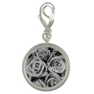 Monochromatic Mom Roses Charm