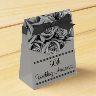 Monochromatic Personalized Roses Anniversary Box