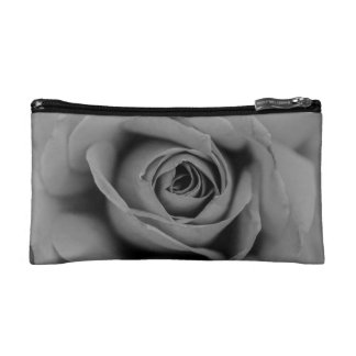 Monochromatic Rose Cosmetic Bag