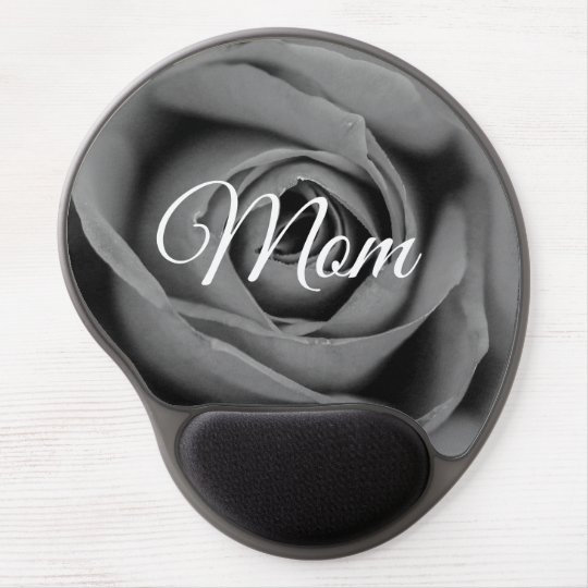 Monochromatic Rose Mum Gel Mousepad Gel Mouse Mat