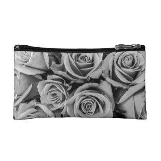 Monochromatic Roses Cosmetic Bag