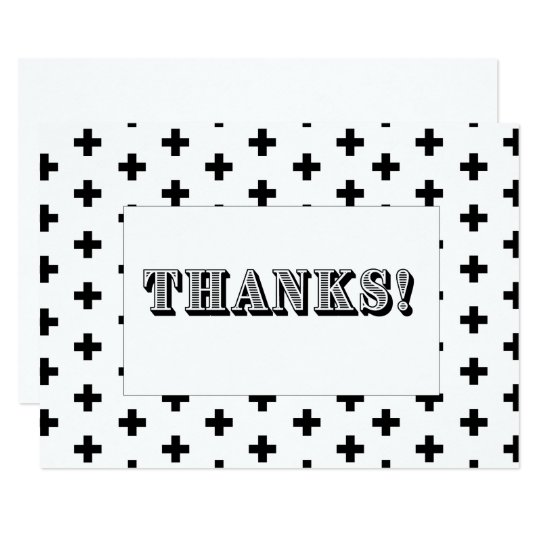 Monochromatic Thank You Card - Flat Card