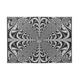 Monochrome Abstract + Cat Cover For iPad Mini