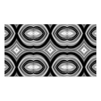 Monochrome Abstract Pattern. Pack Of Standard Business Cards