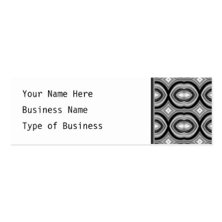 Monochrome Abstract Pattern. Pack Of Skinny Business Cards