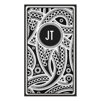 Monochrome African Pattern Business Card Templates