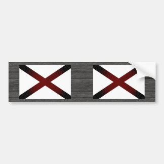 Monochrome Alabama Flag Bumper Sticker