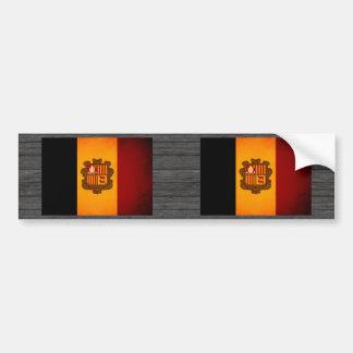 Monochrome Andorra Flag Bumper Sticker