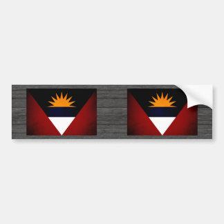 Monochrome Antigua and Barbuda Flag Bumper Sticker