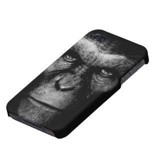 Monochrome  Ape Face Case For iPhone 4