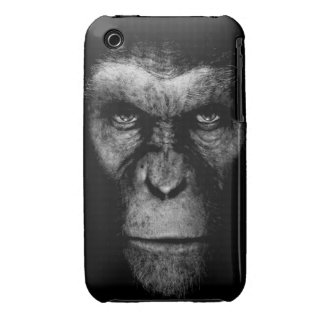 Monochrome  Ape Face iPhone 3 Cases