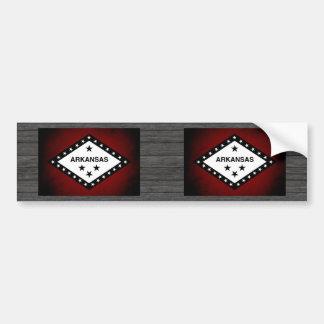 Monochrome Arkansas Flag Bumper Sticker