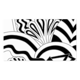 Monochrome Art Deco Design. Business Cards
