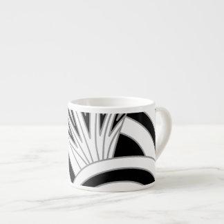 Monochrome Art Deco Design. Espresso Cup