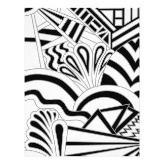 Monochrome Art Deco Design Flyer Design
