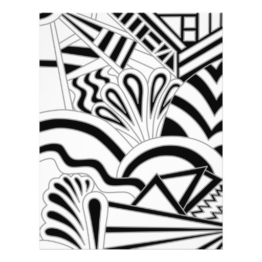 Monochrome Art Deco Design. Flyer Design