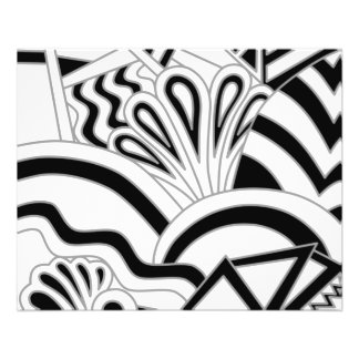 Monochrome Art Deco Design. 11.5 Cm X 14 Cm Flyer