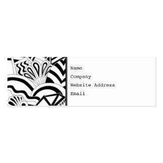 Monochrome Art Deco Design. Pack Of Skinny Business Cards