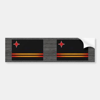 Monochrome Aruba Flag Bumper Sticker