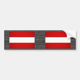 Monochrome Austria Flag Bumper Sticker
