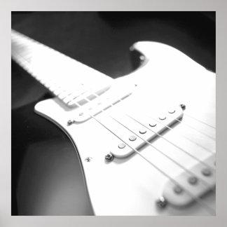 Monochrome B&W Electric Guitar Close-Up 1 Print