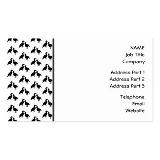 Monochrome Bird Pattern. Pack Of Standard Business Cards