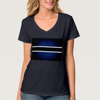 Monochrome Botswana Flag Tee Shirt