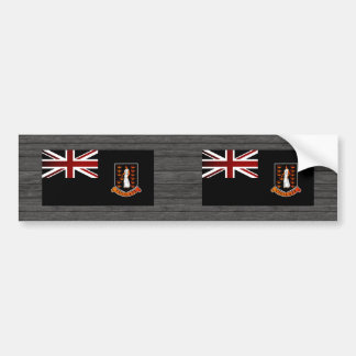 Monochrome British Virgin Islands Flag Bumper Sticker