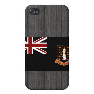 Monochrome British Virgin Islands Flag iPhone 4 Cover