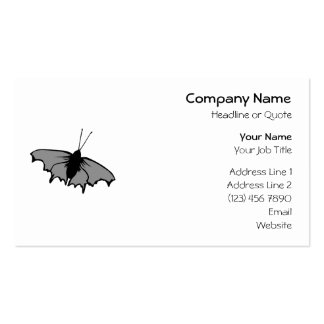 Monochrome Butterfly. Double-Sided Standard Business Cards (Pack Of 100)