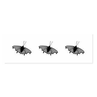 Monochrome Butterfly. Pack Of Skinny Business Cards