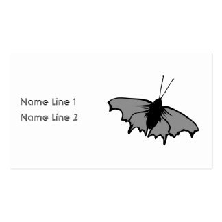 Monochrome Butterfly. Pack Of Standard Business Cards
