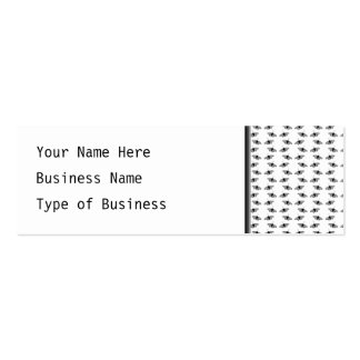 Monochrome Butterfly Pattern. Pack Of Skinny Business Cards