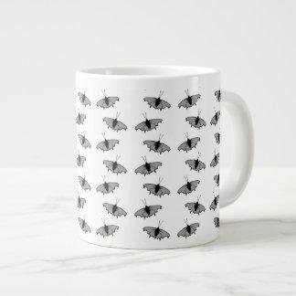 Monochrome Butterfly Pattern. Large Coffee Mug