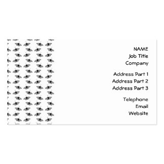 Monochrome Butterfly Pattern. Pack Of Standard Business Cards