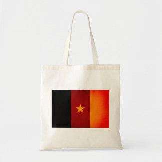 Monochrome Cameroon Flag Canvas Bags
