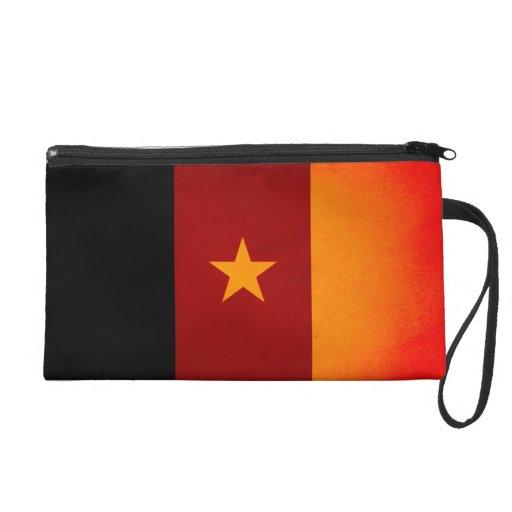 Monochrome Cameroon Flag Wristlet