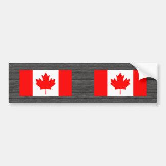 Monochrome Canada Flag Bumper Sticker