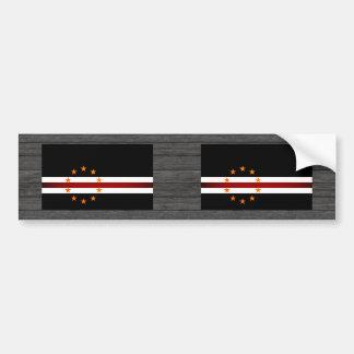 Monochrome Cape Verde Flag Bumper Sticker