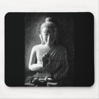 Monochrome Carved Buddha Mouse Mat