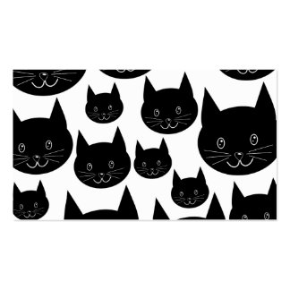 Monochrome Cat Design. Double-Sided Standard Business Cards (Pack Of 100)