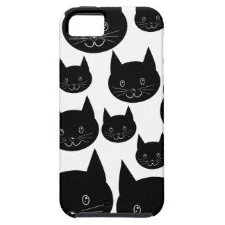 Monochrome Cat Design. iPhone 5 Cases
