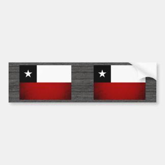 Monochrome Chile Flag Bumper Stickers