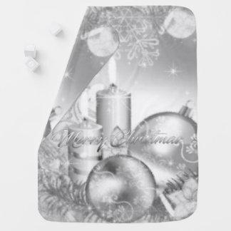 Monochrome Christmas Baby Blanket