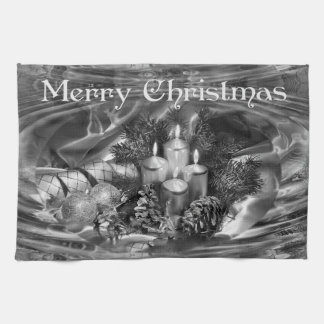 Monochrome Christmas Kitchen Towel
