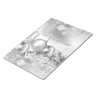Monochrome Christmas Theme Notebook Notepad