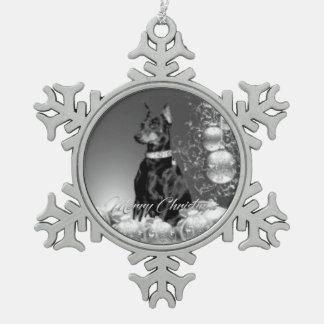 Monochrome Christmas theme Ornament